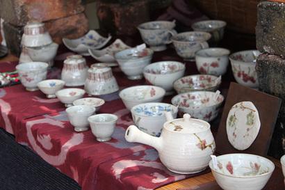 陶器の展示の様子