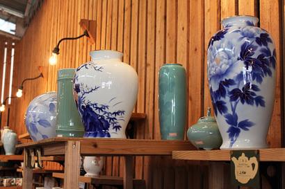 深川焼の花瓶