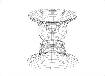 回転体のワイヤーフレーム