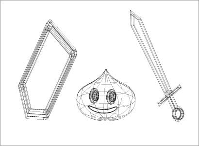 3Dの練習イラスト(ワイヤーフレーム)
