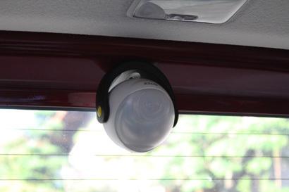 自動車車内での設置