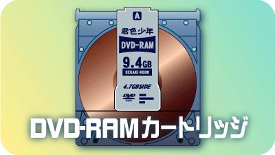 カートリッジ式DVD-RAM
