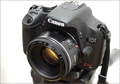 Canon EF50mm F1.8 II+EOS Kiss X3