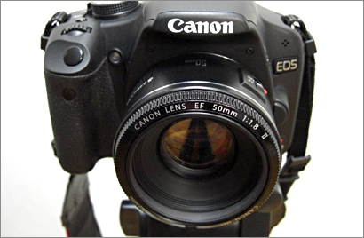 Canon EF50mm F1.8 II+EOS Kiss X3