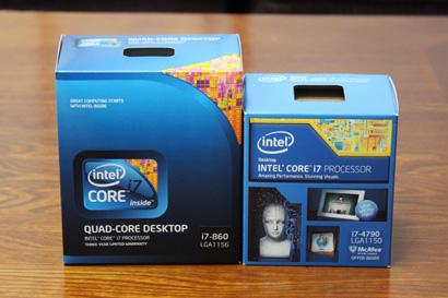 CPUの外箱比較
