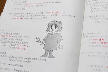 ノートの落書き