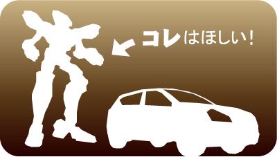 車とロボット