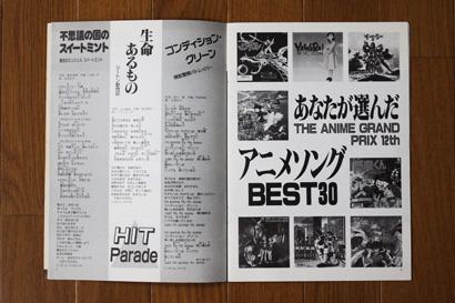 1990年の人気アニメソングベスト30